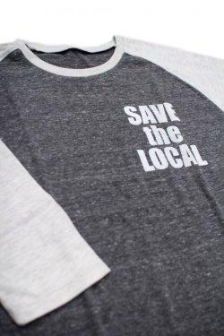 画像1: SAVE the LOCAL S/LOGO RAGLAN TEE