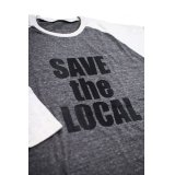 SAVE the LOCAL B/LOGO RAGLAN TEE