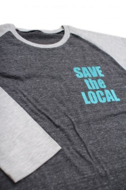 画像1: SAVE the LOCAL S/LOGO RAGLAN TEE