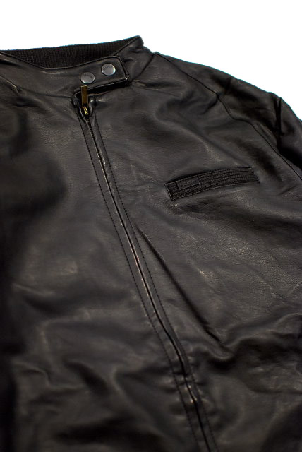 BRIXTON( Brixton) -SHAM FAUX LEATHER Jacket- Brown - brown leatherette