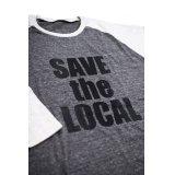 SAVE the LOCAL B/LOGO RAGLAN TEE