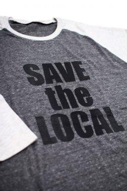 画像1: SAVE the LOCAL B/LOGO RAGLAN TEE