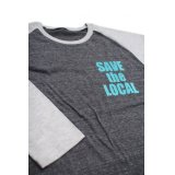 SAVE the LOCAL S/LOGO RAGLAN TEE