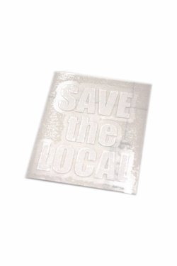 画像1: SAVE the LOCAL LOGO STICKER