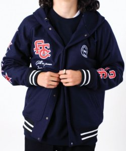画像2: FTC 「HOODED MELTON VARSITY JACKET」