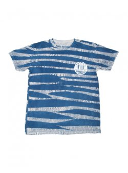 画像1: The Trip Blue Stripe Tie-Dye Trixton T-Shirt