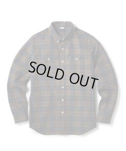 画像1: FTC HEAVY PLAID NEL B.D SHIRT