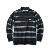 FTC STRIPE HALF ZIP SWEATSHIRT