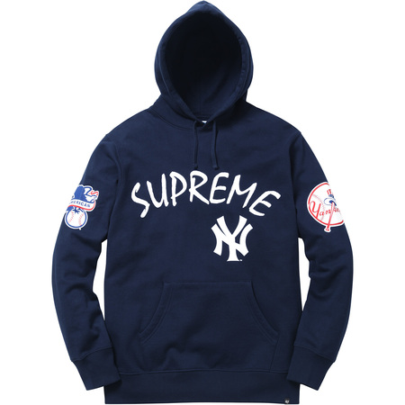 309b0f0a40b Supreme x New York Yankees x 47 Brand Hooded Sweatshirt  NVY